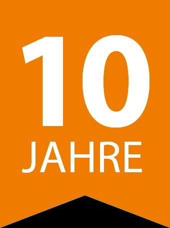 Flag 10 jahre